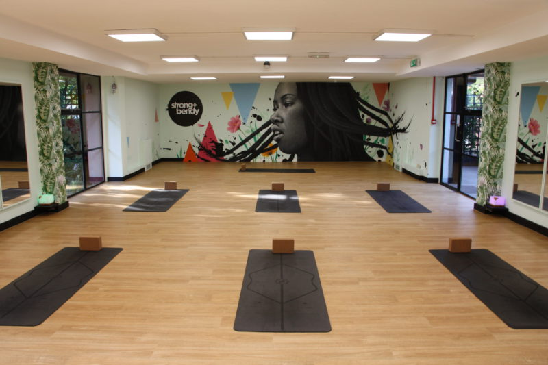 Socially distanced yoga and pilates