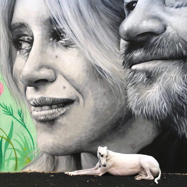 Street Art in Gym Garden Hackney Wick