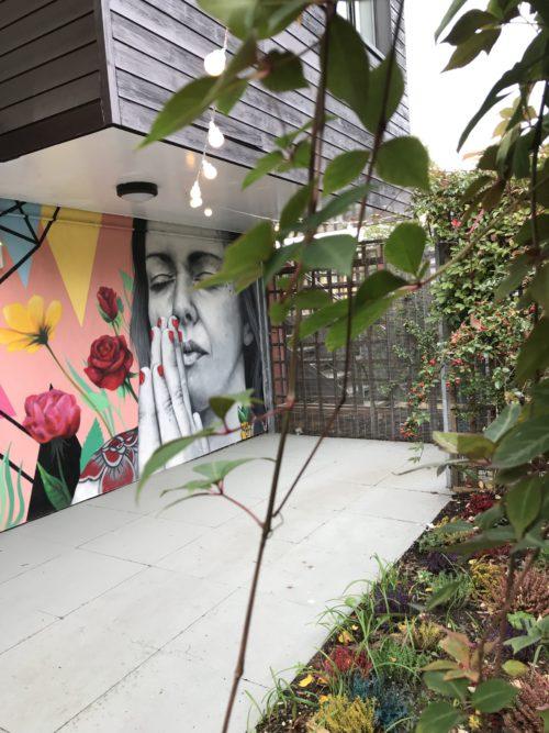 grafitti artwork in our gym garden