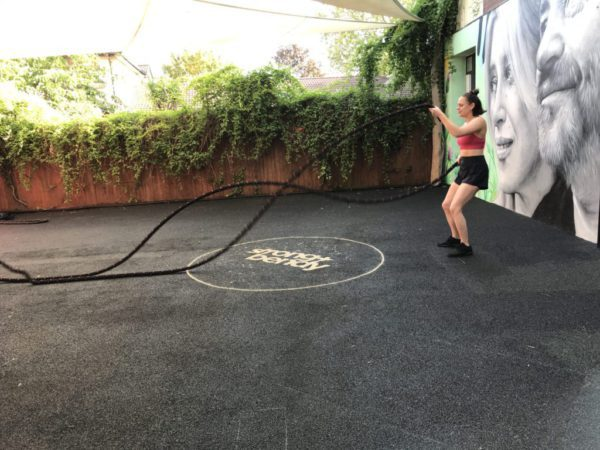 Battle ropes outdoor fitness