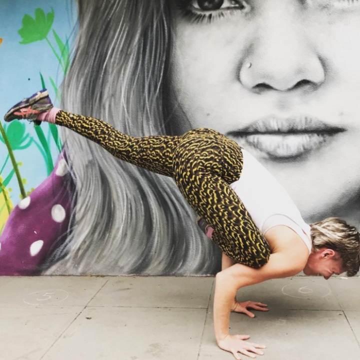 yoga pose in hackney class