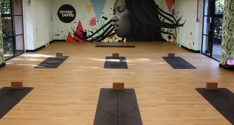 airy indoor fitness studio