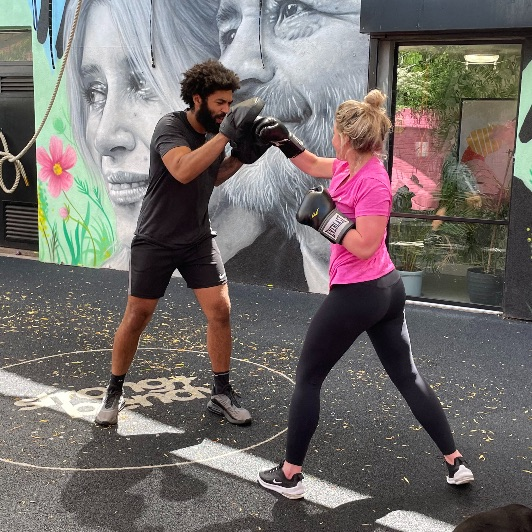 Boxing at Gym in Fish island