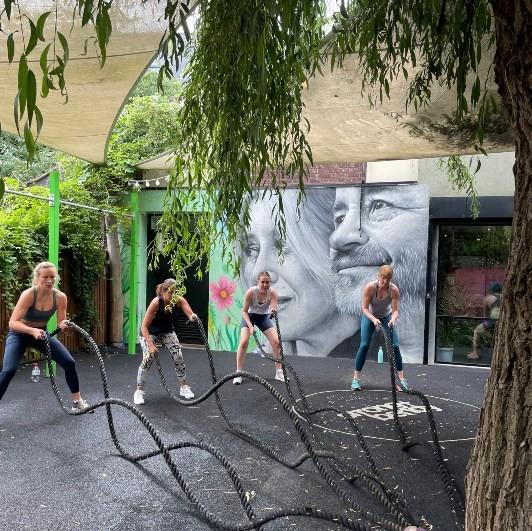 Battle ropes in Gym Hackney Wick